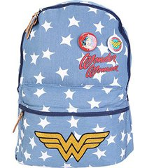 mochila escolar infantil luxcel mulher maravilha feminina