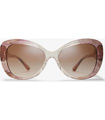 mk occhiali da sole positano - rosa (rosa) - michael kors