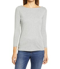 vineyard vines simple boatneck top, size x-large in gray heather at nordstrom