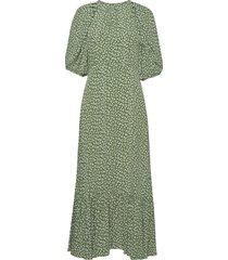 autumn flounce midi dress maxiklänning festklänning grön by ti mo