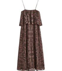 cipella lace maxi dress