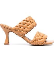 paul warmer braided-strap sandals - brown