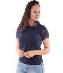 camisa polo cp0721 regular traymon azul marinho - kanui
