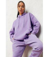 basic oversized hoodie, purple