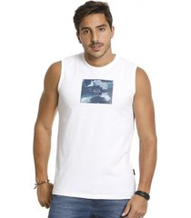 camiseta vlcs regata machã£o gola redonda branca - branco - masculino - algodã£o - dafiti