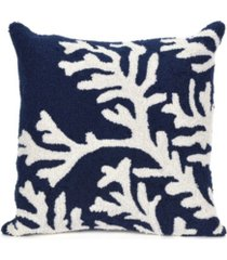 """liora manne frontporch coral indoor, outdoor pillow - 18"""" square"""