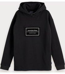 scotch & soda hoodie met labeldetail