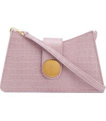 elleme baguette embossed shoulder bag - pink