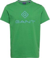d1. color lock up ss t-shirt t-shirts short-sleeved grön gant