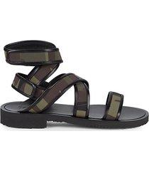 strappy camo sandals