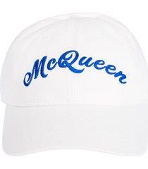 alexander mcqueen embroidered mcqueen cap