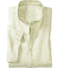overhemd met korte mouwen met glanseffect van bio-katoen, groen-gemêleerd xl