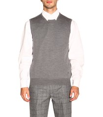 fay sweater fay sleeveless sweater in basic wool