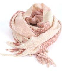bufanda rebeca rosa guinda