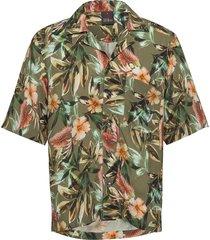 hilmer reg shirt kortärmad skjorta grön oscar jacobson