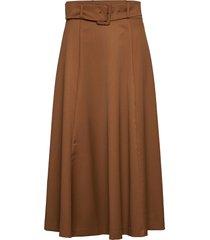 belted skirt knälång kjol brun ivy & oak