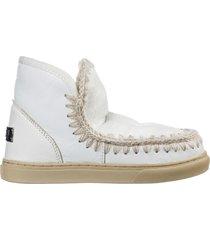 stivaletti stivali donna in pelle mini eskimo sneaker