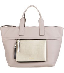 cartera beige calvin klein chaly large tote