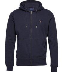 the original full zip hoodie hoodie trui blauw gant