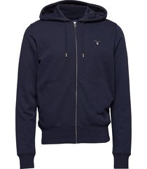 the original full zip hoodie sweat-shirts & hoodies hoodies blauw gant