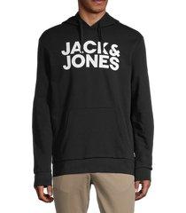 jack & jones men's corp graphic logo hoodie - navy blazer - size s