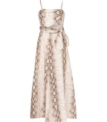 zimmermann bellitude snake-print maxi dress - brown