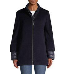 full-zip wool-blend jacket