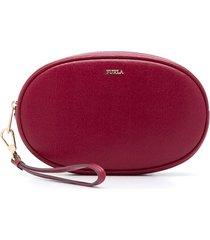 furla oval beauty case - red