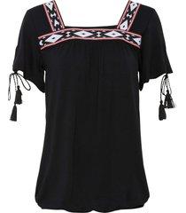 maglia con bordure (nero) - bodyflirt
