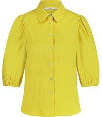 blouse met pofmouwen pien  groen