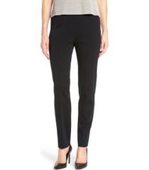 women's ming wang pull-on knit pants, size x-large - black