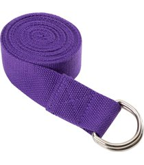everyday yoga 8 foot strap d-ring plum cotton/polyester