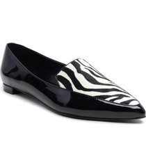 mocasin cuero abay zebra negro casual nine west