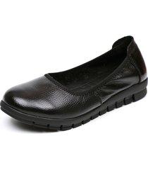 socofy casual scarpe basse nere slip-on in pelle morbida