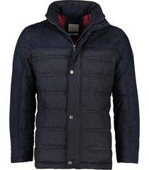 bugatti jas donkerblauw opstaande kraag