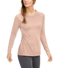 columbia women's windgates mesh-trim long-sleeve t-shirt
