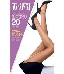 meia-calça modelo europeu (20 den) trifil w06308 único/g/1x fume - kanui