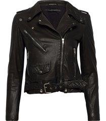 berlin leather jacket leren jack leren jas zwart mdk / munderingskompagniet