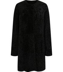 drome astrakhan fur coat