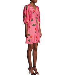 cactus silk wrap dress