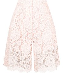 dolce & gabbana knee-length lace shorts - pink