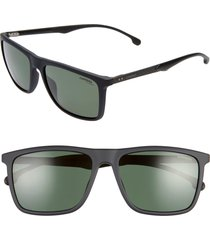 men's carrera eyewear 57mm polarized sunglasses - matte black/ green