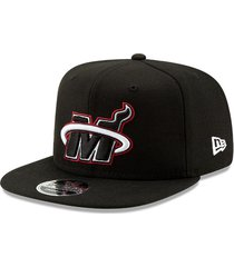 gorra negro new era 950 miami heats-new era