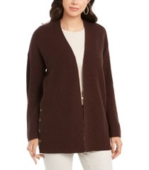 style & co button-side oversized cardigan, created for macy's