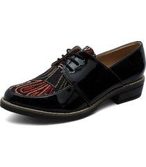 zapato casual charol negro por lona heels.d