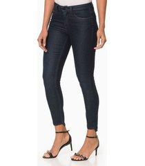 calça jeans five pockets jegging - preto - 36