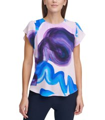 dkny tulip-sleeve top