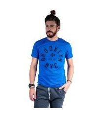 camiseta mister fish estampado brooklyn nyc masculina