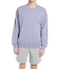 men's reigning champ men's crewneck sweatshirt, size large - purple