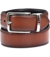 tommy hilfiger men's feather-edge reversible logo belt